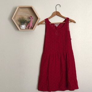 Dresses & Skirts - Red lace dress with tear drop open back